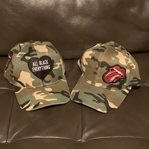 Camo hats with patches